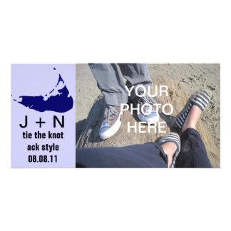 Reserva de Nantucket la fecha Tarjetas Fotograficas Personalizadas