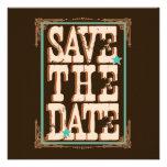 Reserva de Nashville la fecha:  Turquesa Invitaciones Personalizada