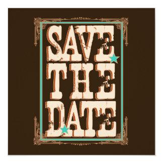 Reserva de Nashville la fecha:  Turquesa Invitación 13,3 Cm X 13,3cm