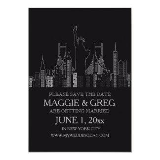 Reserva de New York City la invitación de la fecha