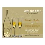 Reserva de oro de la celebración de las burbujas tarjeta postal