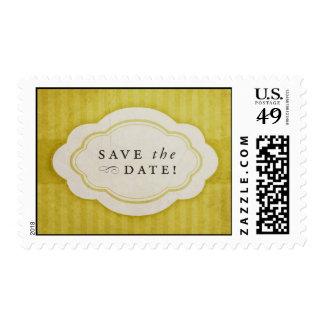 Reserva de oro del amarillo del vintage rústico envio