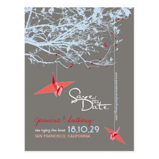 Reserva de papel de la foto del zen del árbol de tarjeta postal