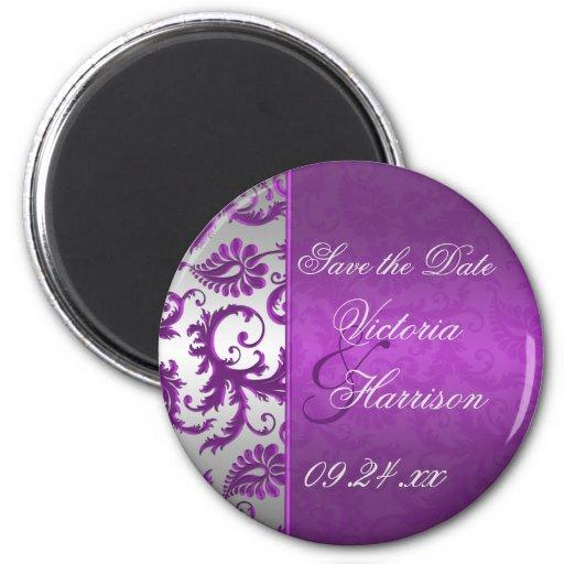 Reserva de plata y púrpura del damasco II el imán