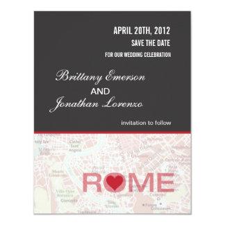 Reserva de Roma Italia la invitación de la fecha