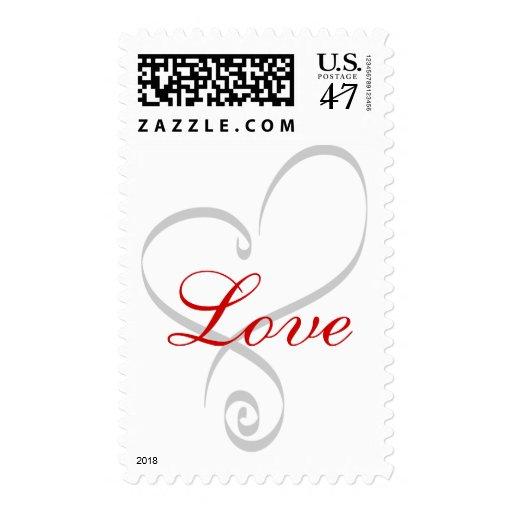 Reserva de RSVP del amor del boda del corazón la Sello