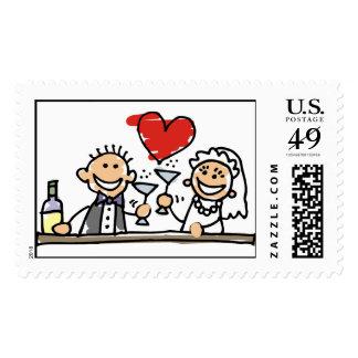 Reserva de RSVP del novio de la novia de la Sellos Postales