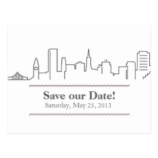 Reserva de San Francisco el horizonte de la ciudad Tarjeta Postal