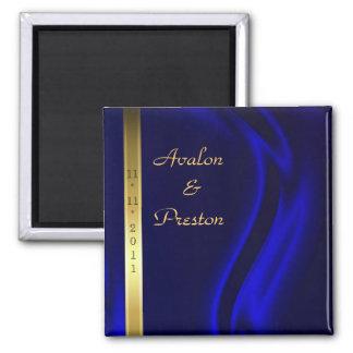 Reserva de seda azul del oro del marqués el imán d