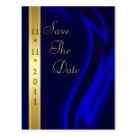 Reserva de seda azul del oro del marqués la postal