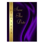 Reserva de seda púrpura del oro del marqués la pos postales