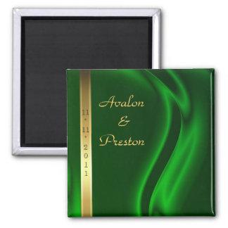 Reserva de seda verde del oro del marqués el imán