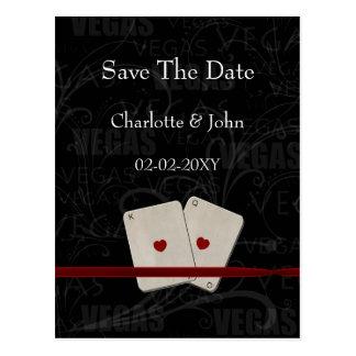 reserva de vegas la invitación de la fecha tarjetas postales