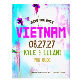 Reserva de Vietnam el destino de la fecha Invitación 10,8 X 13,9 Cm