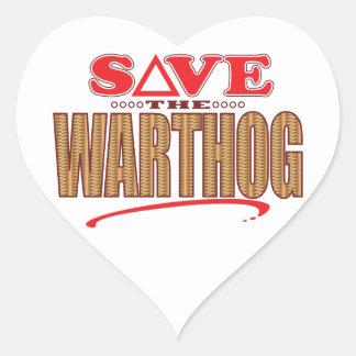 Reserva de Warthog Pegatina En Forma De Corazón