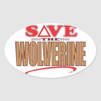 Reserva de Wolverine Pegatina Ovalada