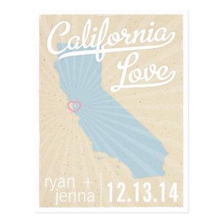 Reserva del amor de California la postal de la fec