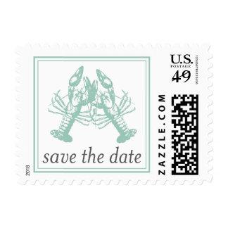 Reserva del amor de la langosta el sello de fecha