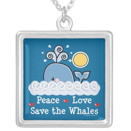 Reserva del amor de la paz el collar de las ballen