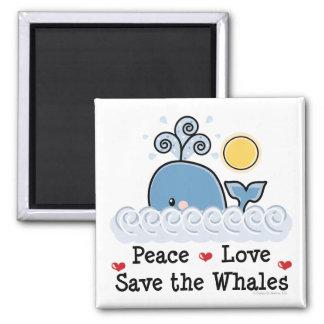 Reserva del amor de la paz el imán de las ballenas