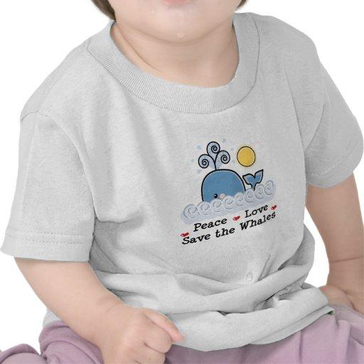 Reserva del amor de la paz la camiseta del bebé de