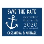 Reserva del ancla del barco la fecha (azul marino) anuncio
