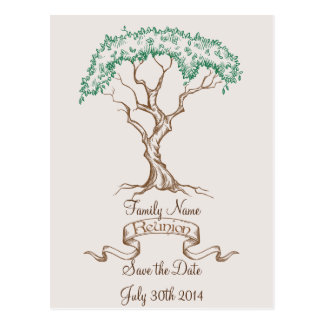 Reserva del árbol de la reunión de familia la fech