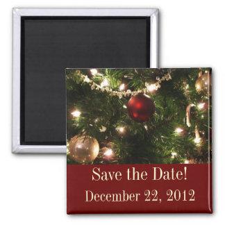 Reserva del árbol de navidad el imán de la fecha