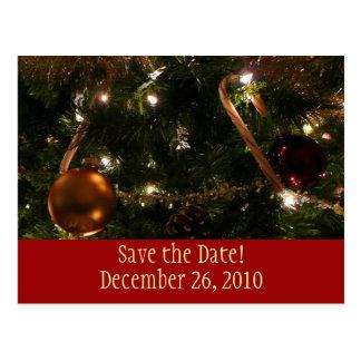 Reserva del árbol de navidad la postal de la fecha