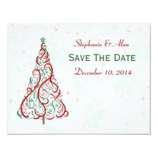 Reserva del árbol de navidad la tarjeta de fecha comunicado