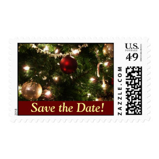 Reserva del árbol de navidad los sellos de fecha