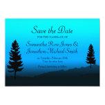 Reserva del azul de la oscuridad del boda de la invitación 12,7 x 17,8 cm