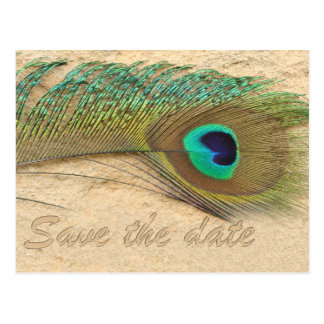 reserva del azul de pavo real la fecha tarjetas postales