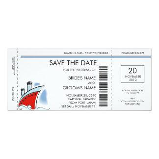 Reserva del barco de cruceros las invitaciones de anuncio personalizado