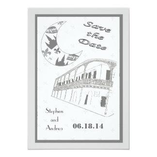 """Reserva del barrio francés de New Orleans las Invitación 5"""" X 7"""""""
