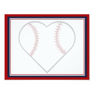 Reserva del béisbol las tarjetas de fecha anuncio personalizado