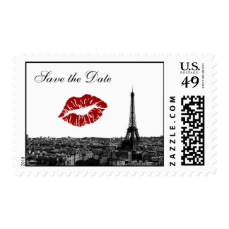 Reserva del beso #1 BW del horizonte de París Franqueo