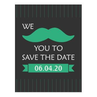 Reserva del bigote la fecha tarjetas postales