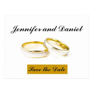 Reserva del boda de diciembre la invitación de la tarjeta postal
