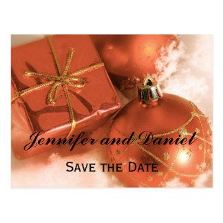 Reserva del boda de diciembre la invitación de la postales