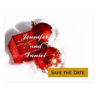 Reserva del boda de diciembre la invitación de la tarjetas postales