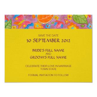 Reserva del boda de Ganesh la invitación de la Invitación 10,8 X 13,9 Cm