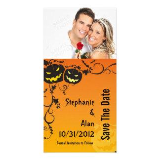 Reserva del boda de Halloween las tarjetas de la Tarjeta Personal Con Foto