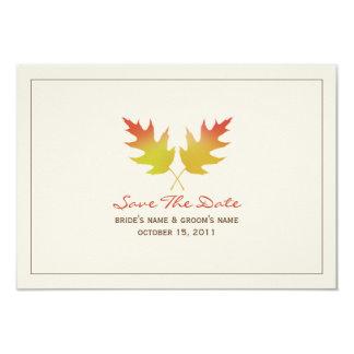 Reserva del boda de la caída de las hojas del invitación 8,9 x 12,7 cm