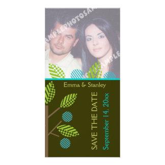 Reserva del boda de la caída del manzano La tarjet Tarjetas Fotográficas