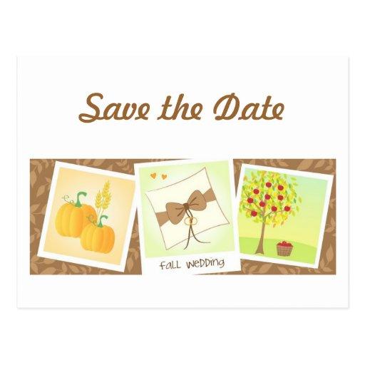 Reserva del boda de la caída la postal de la fecha