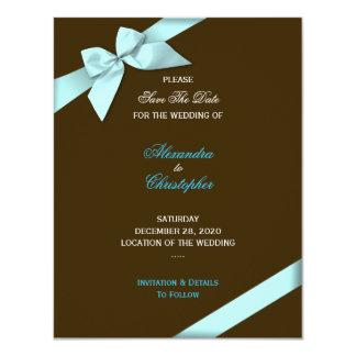 Reserva del boda de la cinta de la aguamarina la anuncio