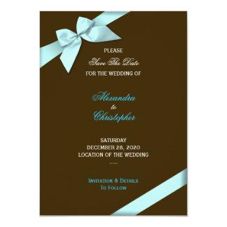 Reserva del boda de la cinta de la aguamarina la comunicado personalizado