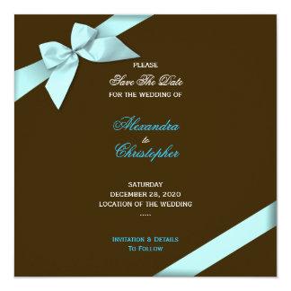 Reserva del boda de la cinta de la aguamarina la anuncios