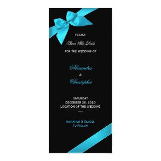 """Reserva del boda de la cinta de la turquesa la invitación 4"""" x 9.25"""""""